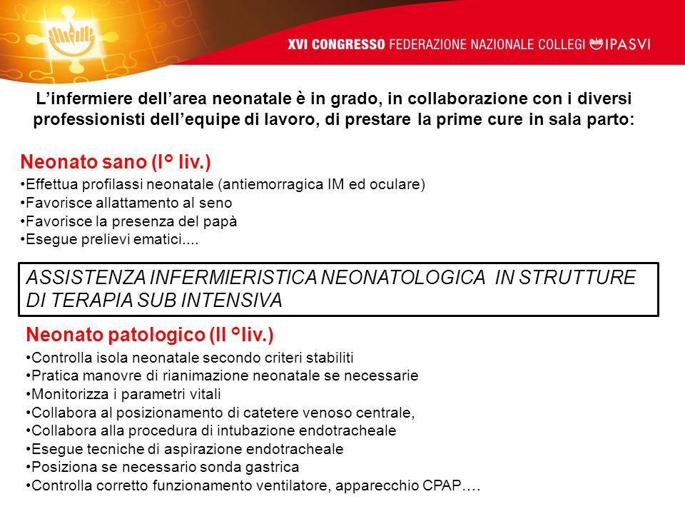 ASSISTENZA INFERMIERISTICA NEONATOLOGICA IN STRUTTURE