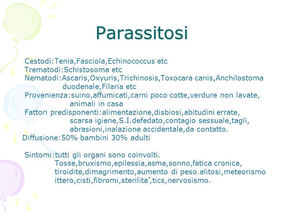 Parassitosi Cestodi:Tenia,Fasciola,Echinococcus etc
