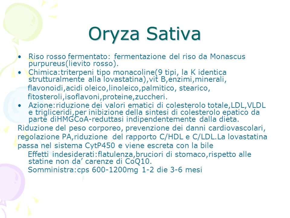 Oryza Sativa Riso rosso fermentato: fermentazione del riso da Monascus purpureus(lievito rosso).