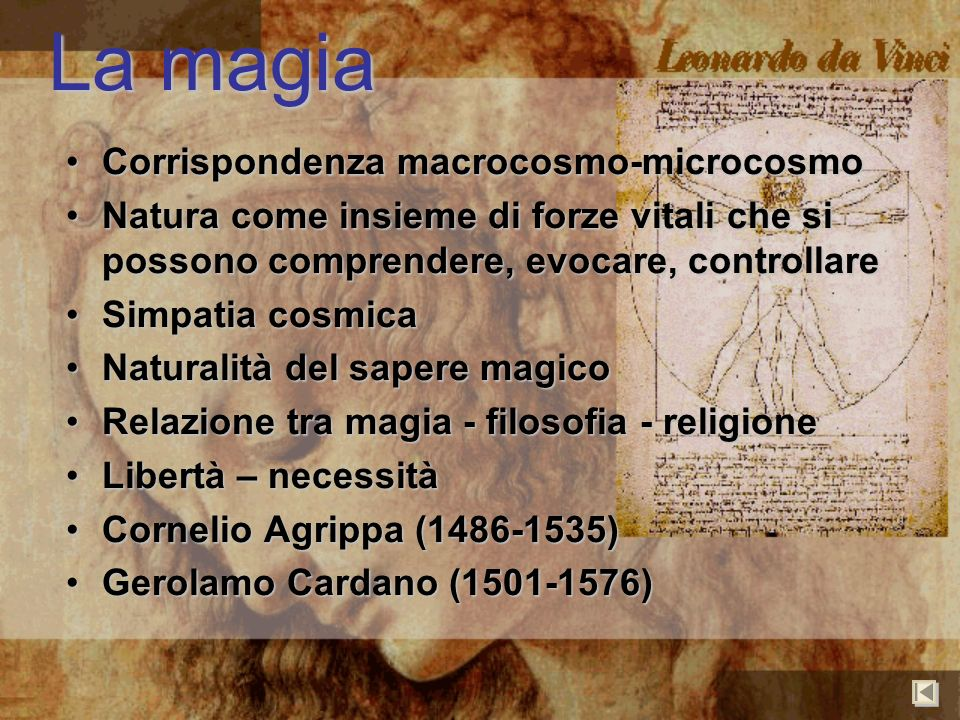 La magia Corrispondenza macrocosmo-microcosmo