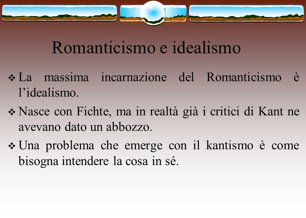 Romanticismo e idealismo