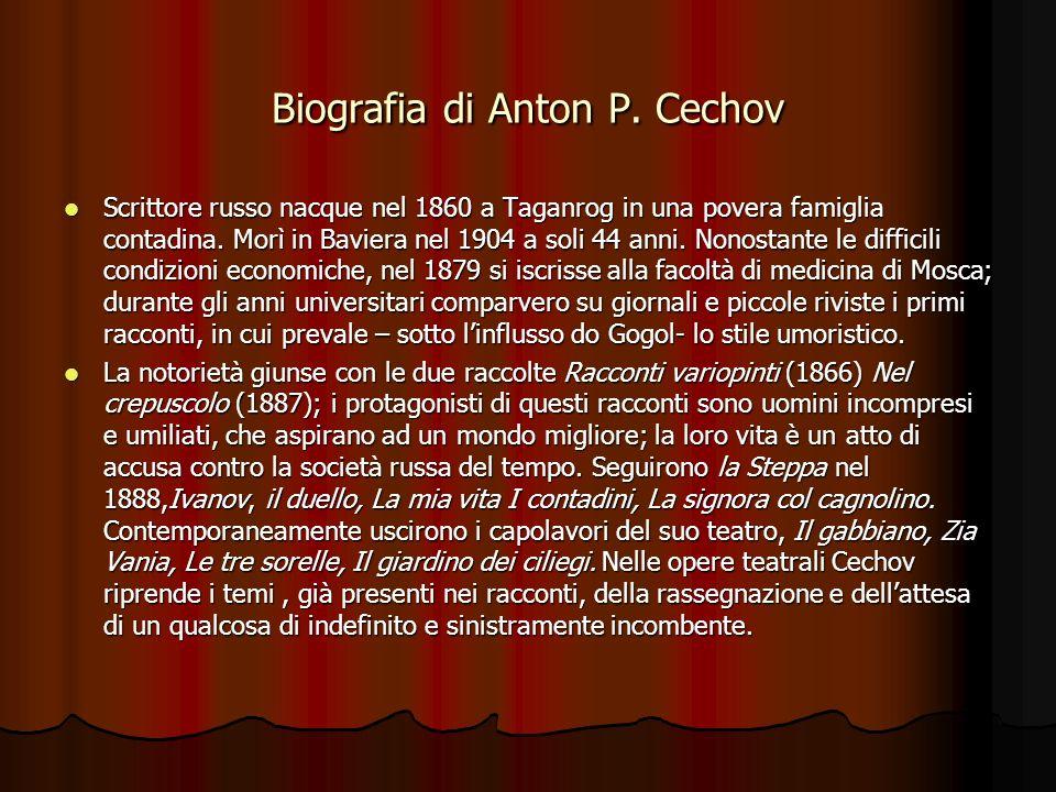 Biografia di Anton P. Cechov