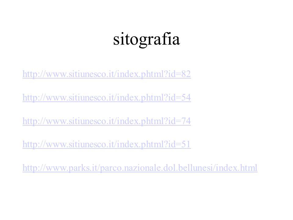 sitografia http://www.sitiunesco.it/index.phtml id=82