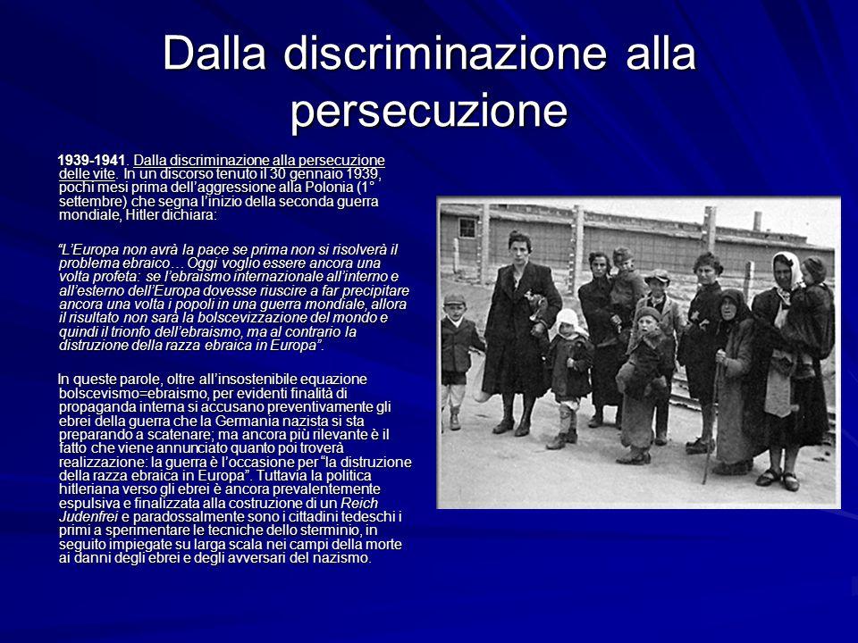 Dalla discriminazione alla persecuzione