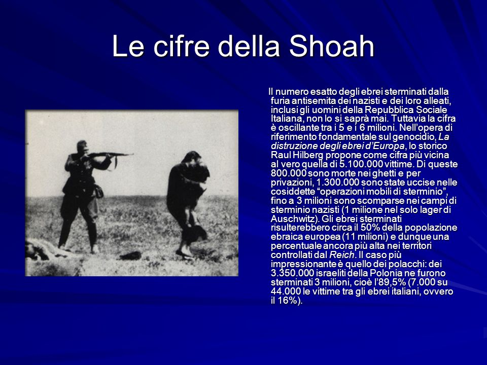 Le cifre della Shoah