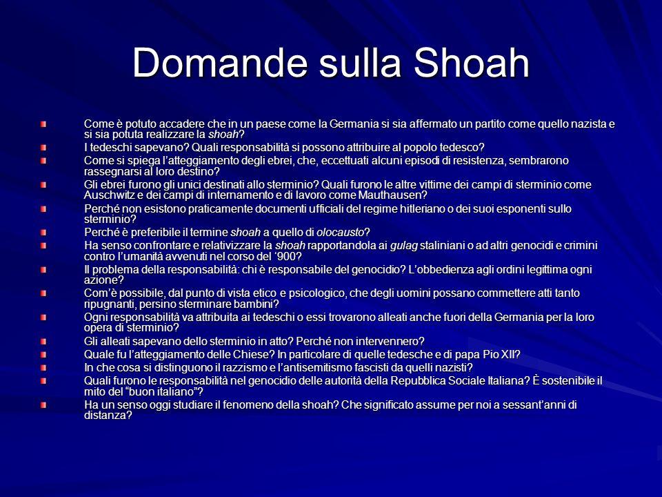 Domande sulla Shoah