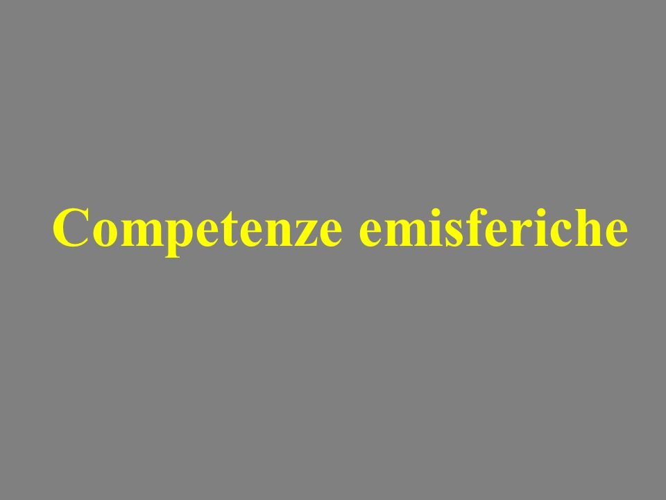 Competenze emisferiche