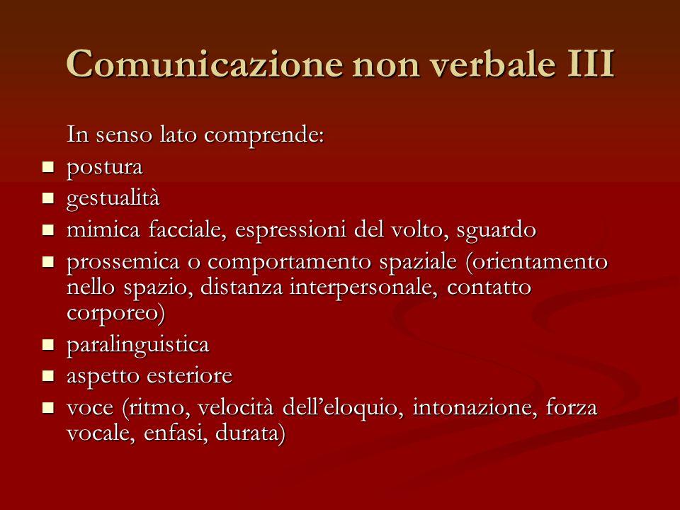 Comunicazione non verbale III