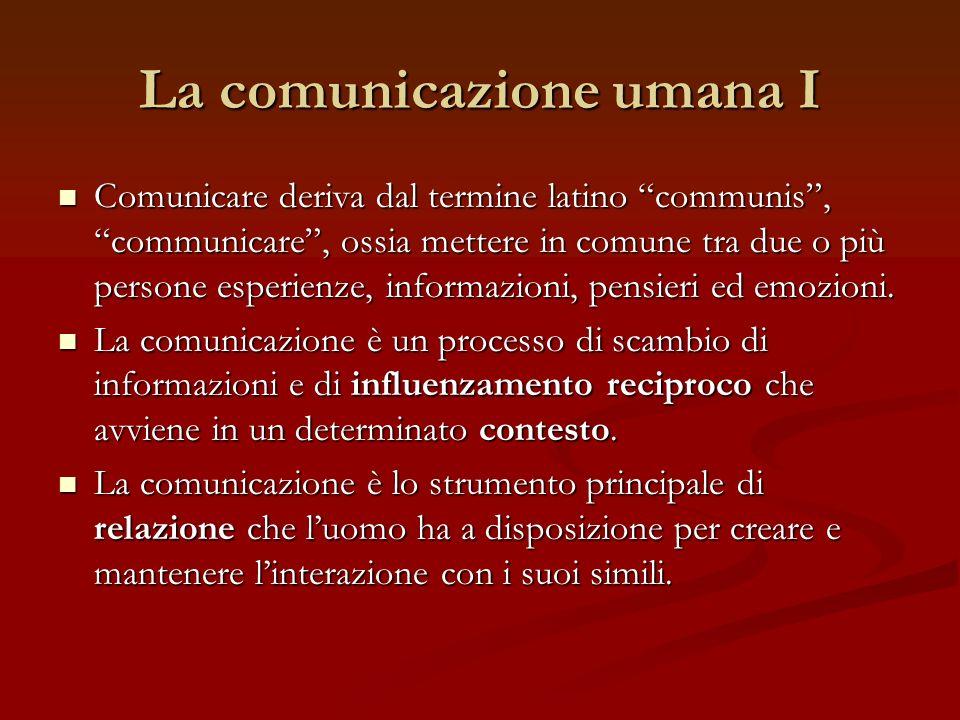 La comunicazione umana I