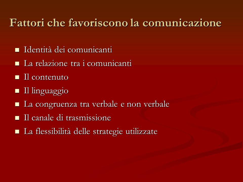 Fattori che favoriscono la comunicazione