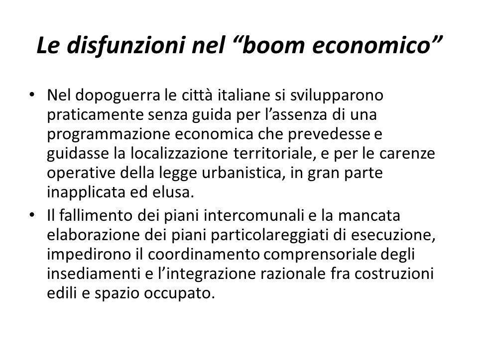 Le disfunzioni nel boom economico