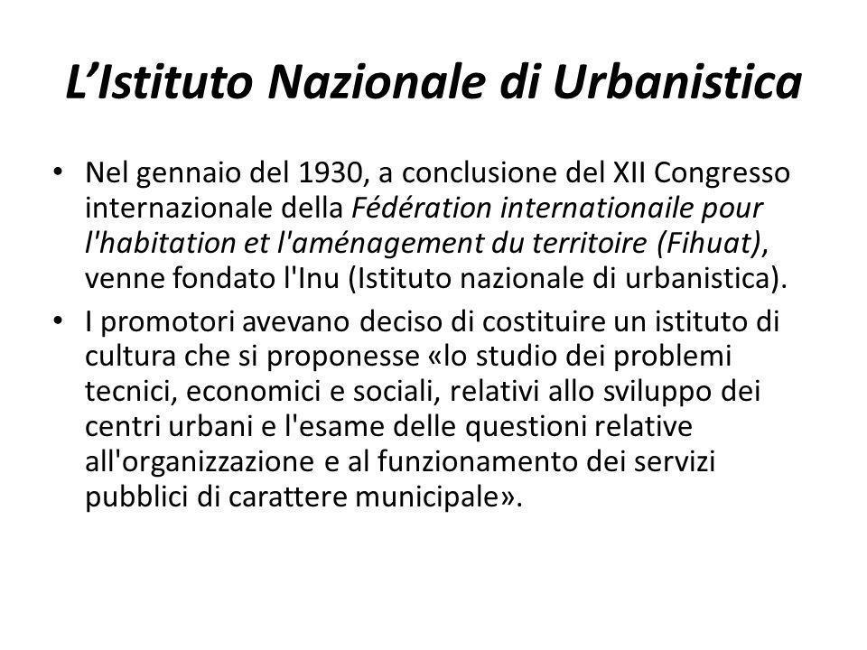 L'Istituto Nazionale di Urbanistica