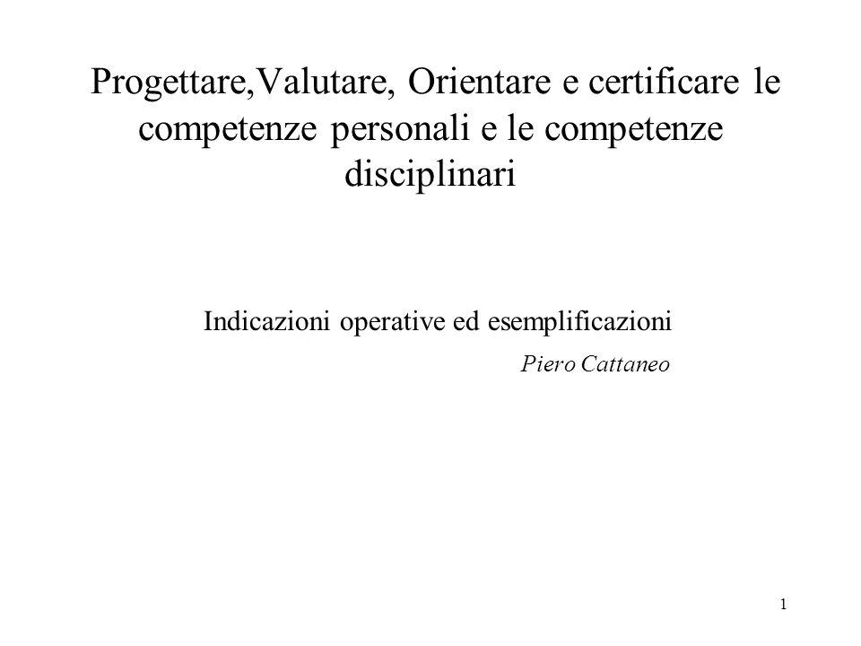 Indicazioni operative ed esemplificazioni Piero Cattaneo