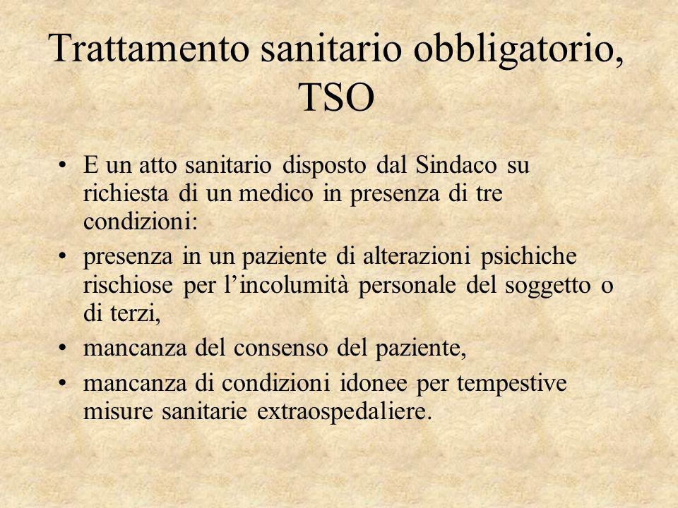 Trattamento sanitario obbligatorio, TSO