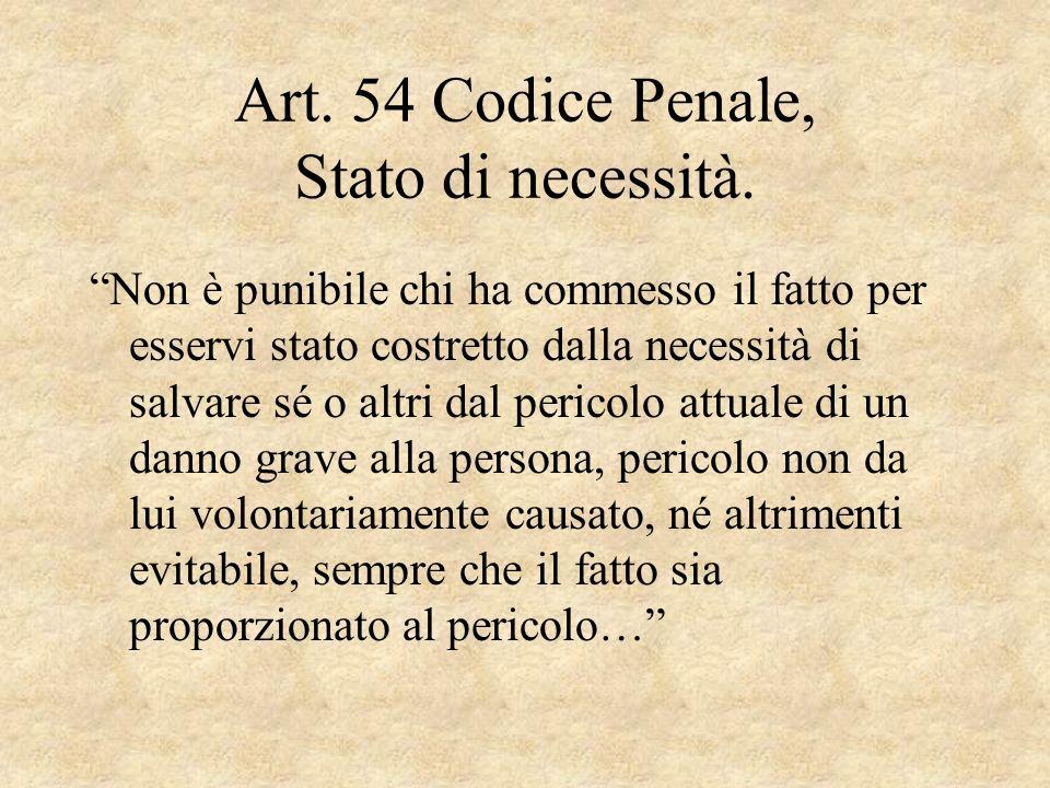 Art. 54 Codice Penale, Stato di necessità.