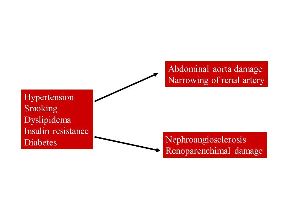 Abdominal aorta damage