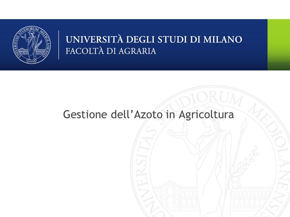 Gestione dell'Azoto in Agricoltura