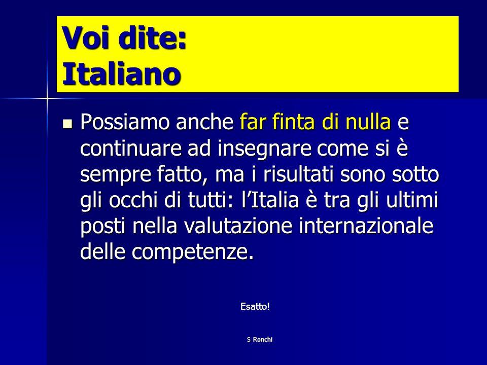 Voi dite: Italiano