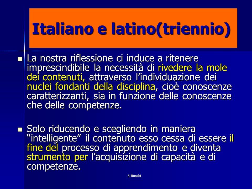 Italiano e latino(triennio)