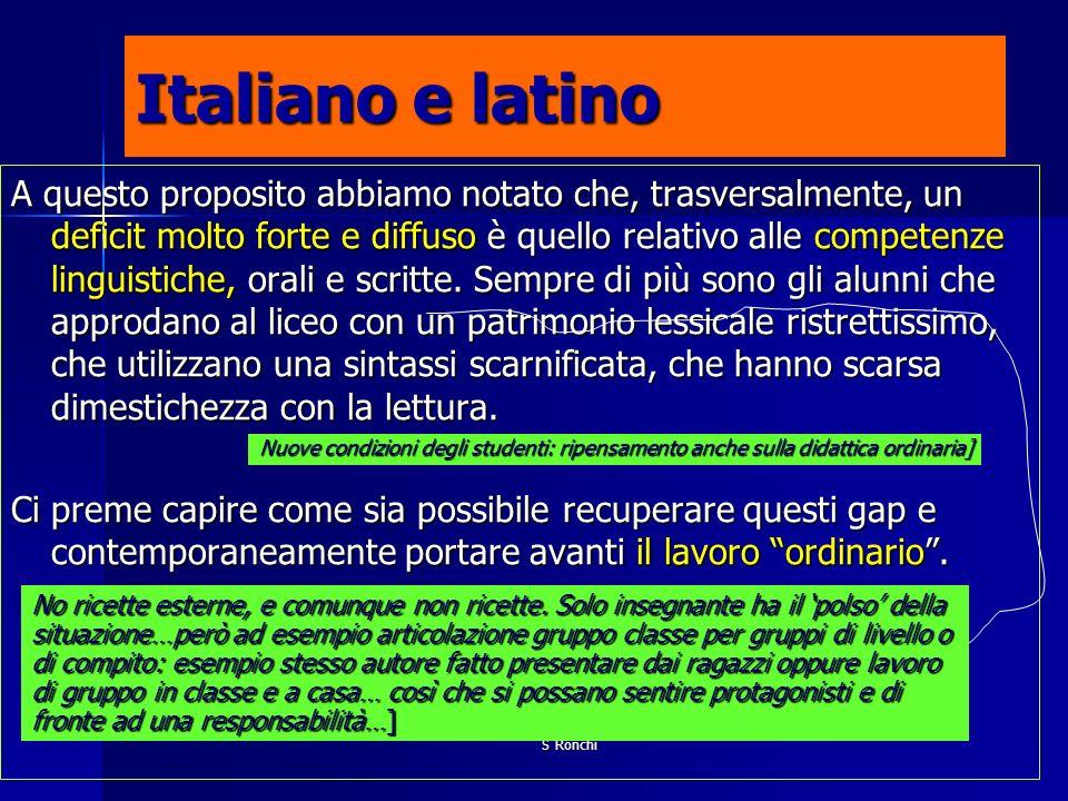 Italiano e latino