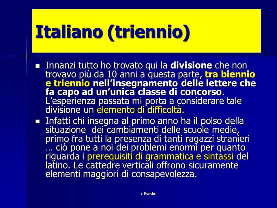 Italiano (triennio)