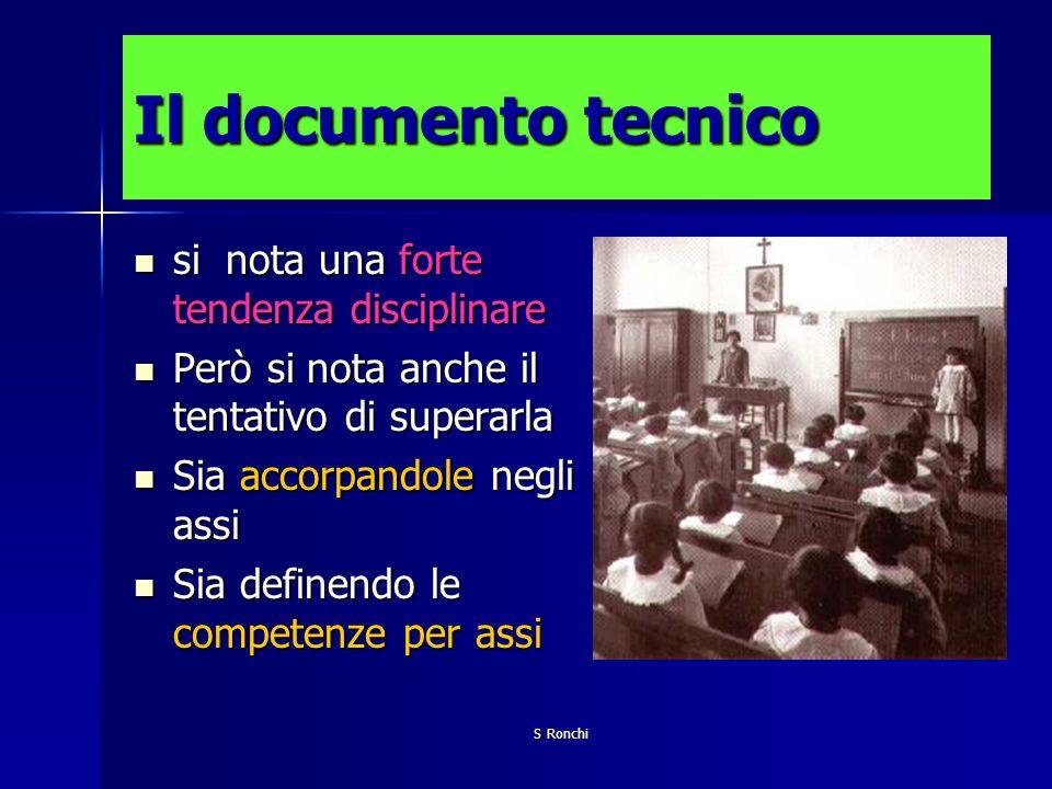 Il documento tecnico si nota una forte tendenza disciplinare