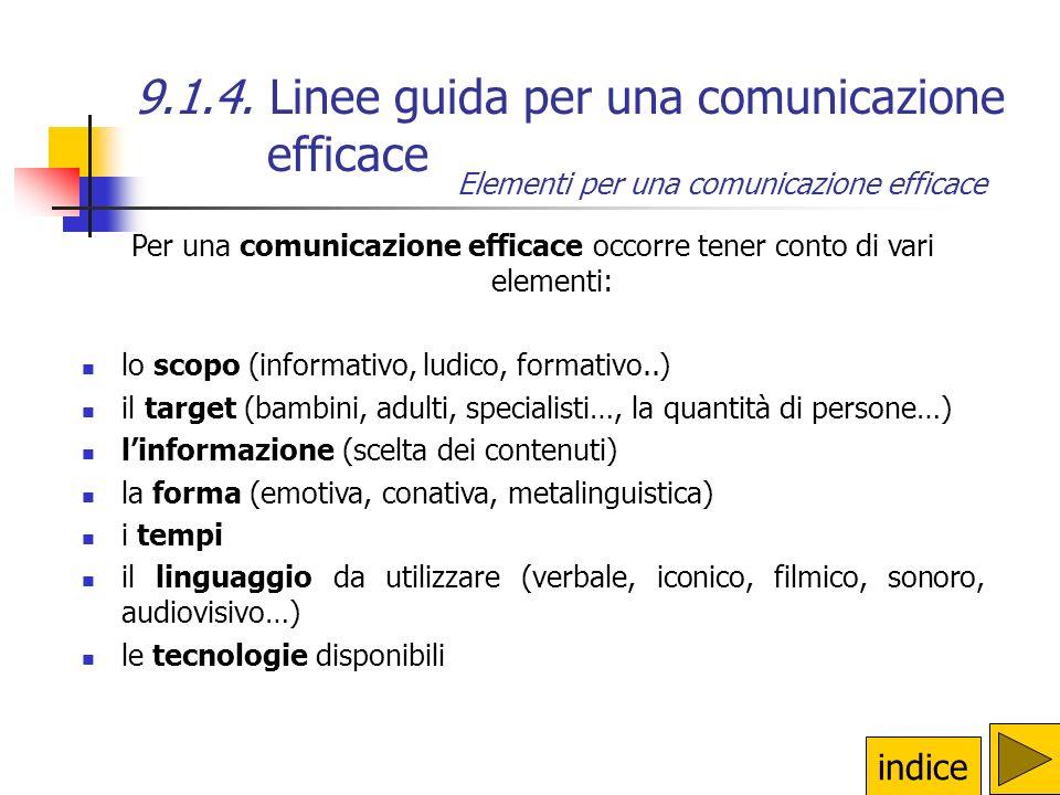 9.1.4. Linee guida per una comunicazione efficace