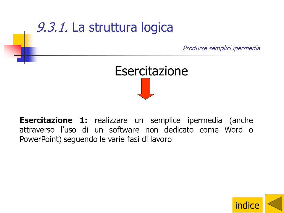 9.3.1. La struttura logica Esercitazione indice