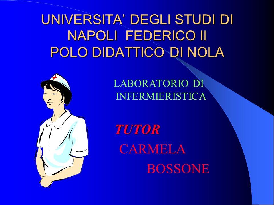UNIVERSITA' DEGLI STUDI DI NAPOLI FEDERICO II POLO DIDATTICO DI NOLA