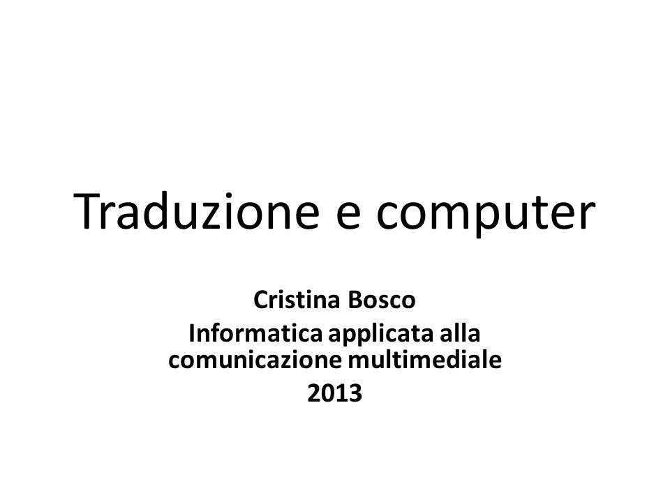 Informatica applicata alla comunicazione multimediale
