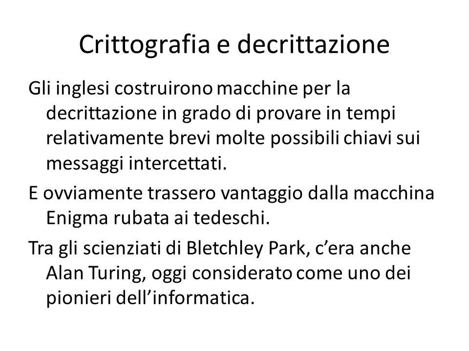Crittografia e decrittazione