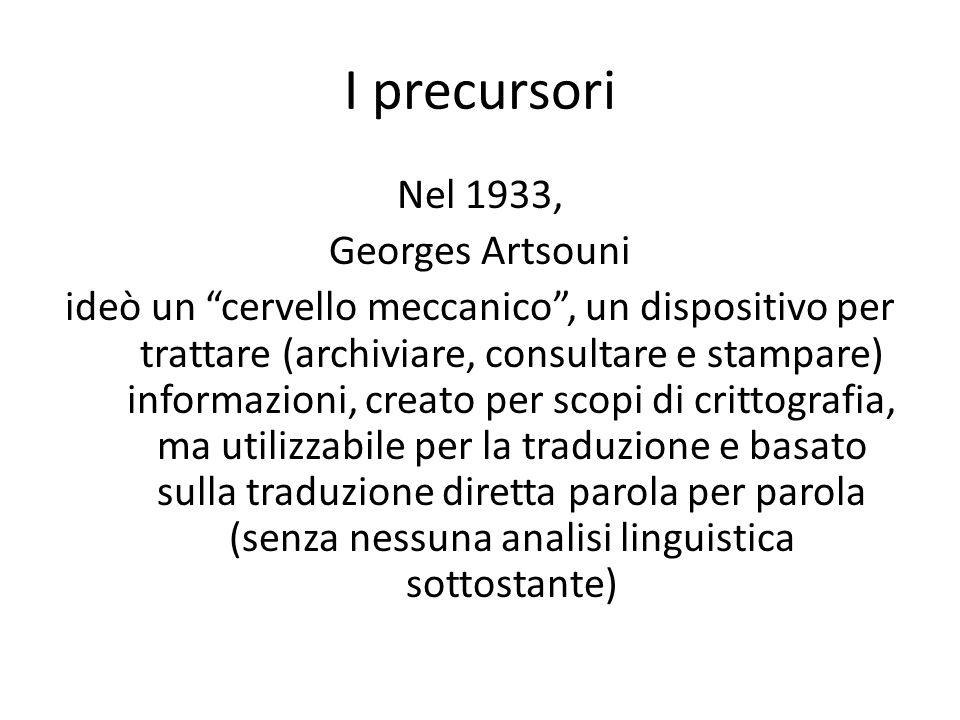 I precursori
