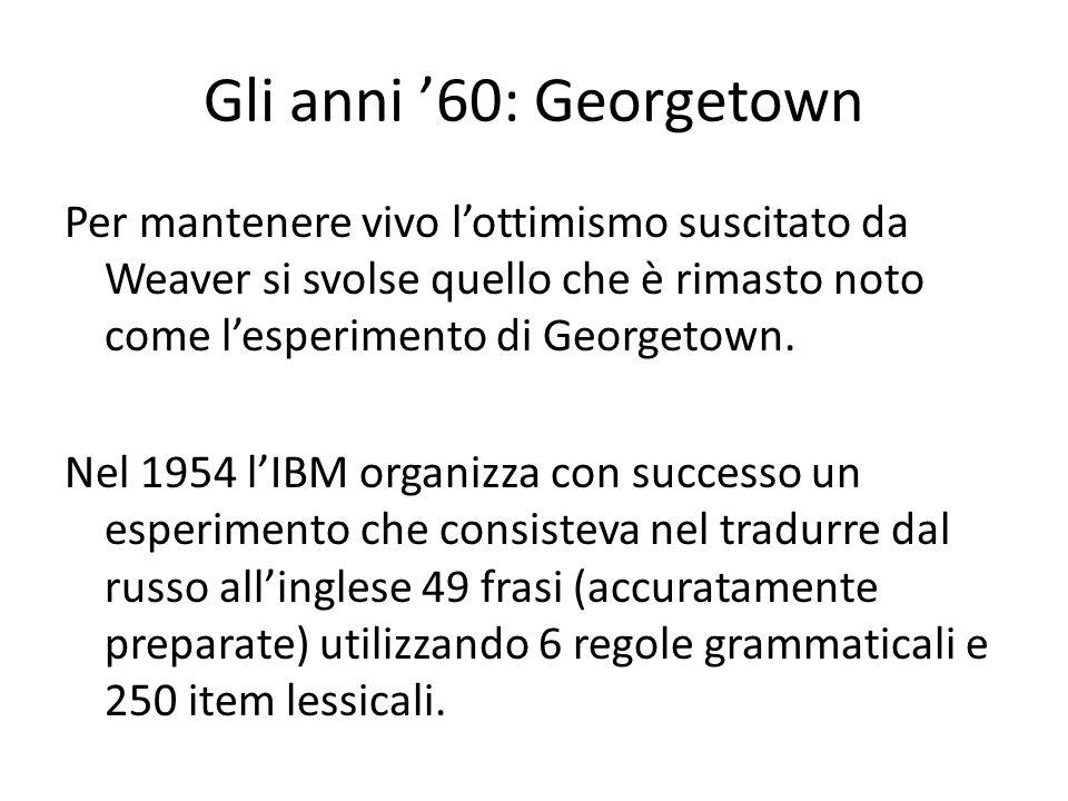Gli anni '60: Georgetown