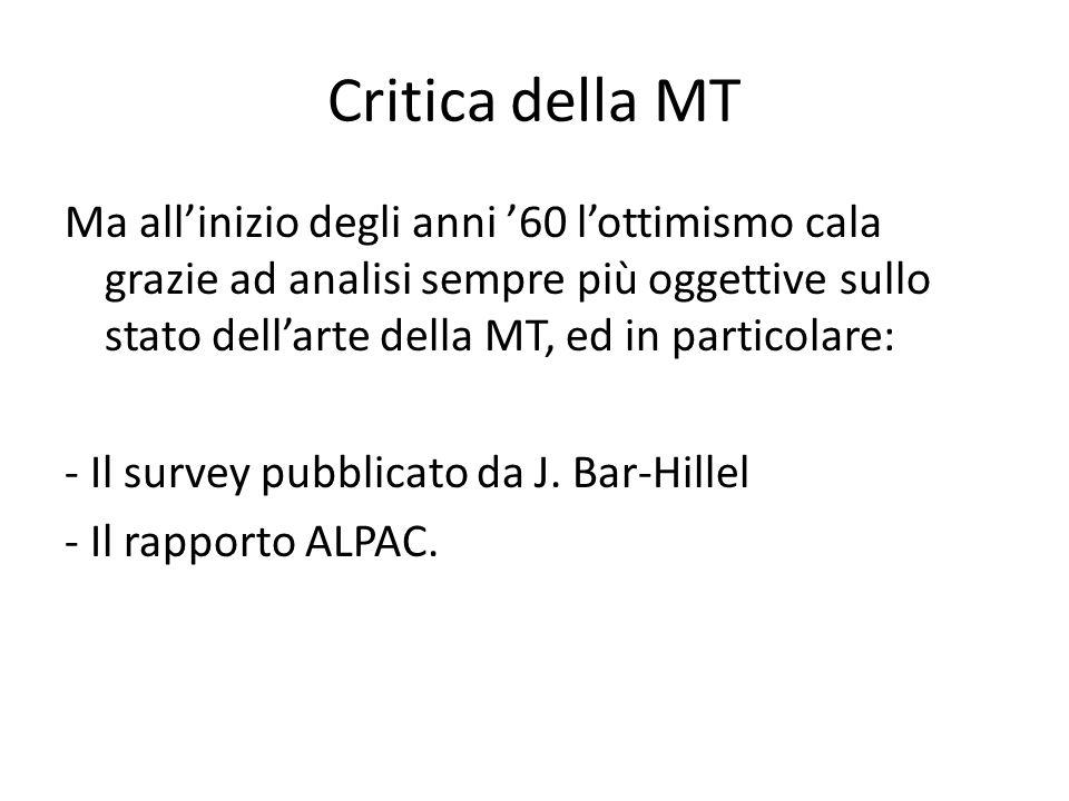 Critica della MT