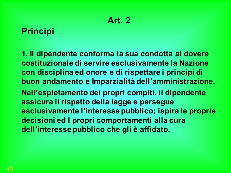 Art. 2 Principi.