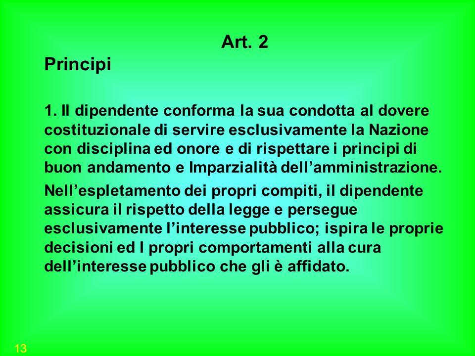 Art. 2Principi.