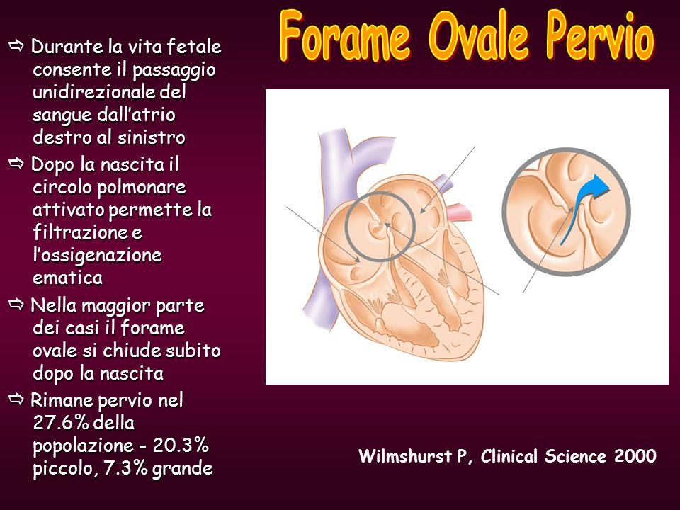  Durante la vita fetale consente il passaggio unidirezionale del sangue dall'atrio destro al sinistro