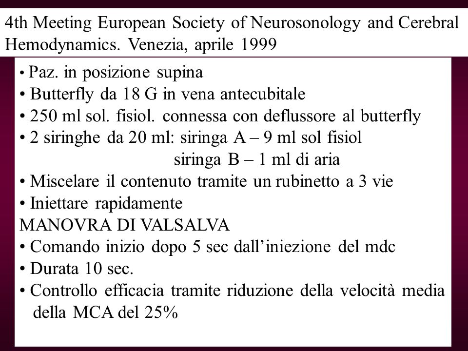 4th Meeting European Society of Neurosonology and Cerebral