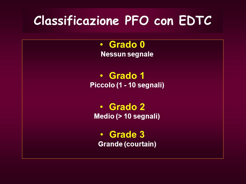 Classificazione PFO con EDTC
