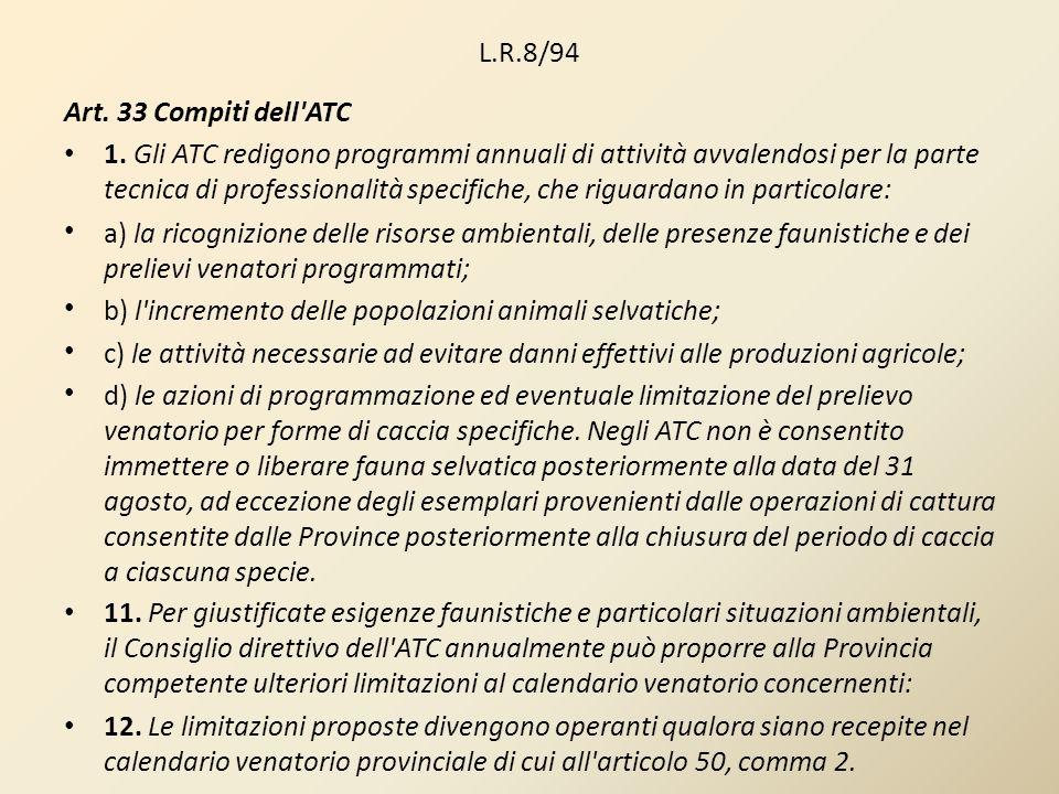 L.R.8/94Art. 33 Compiti dell ATC.