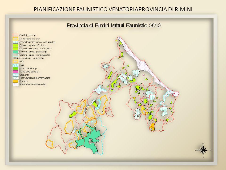 PIANIFICAZIONE FAUNISTICO VENATORIAPROVINCIA DI RIMINI