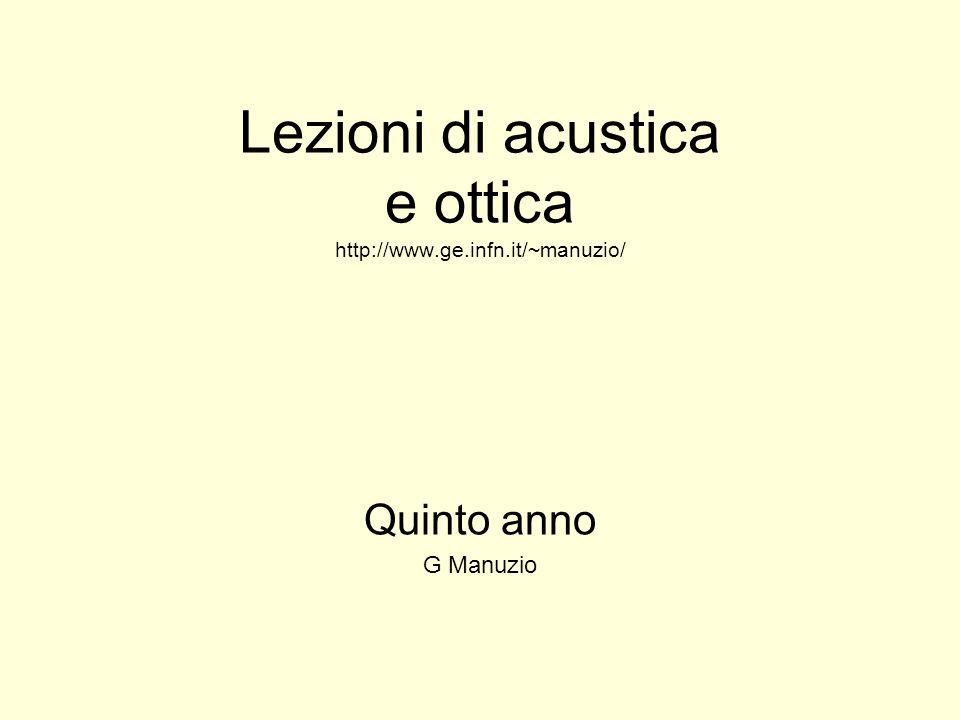 Lezioni di acustica e ottica http://www.ge.infn.it/~manuzio/