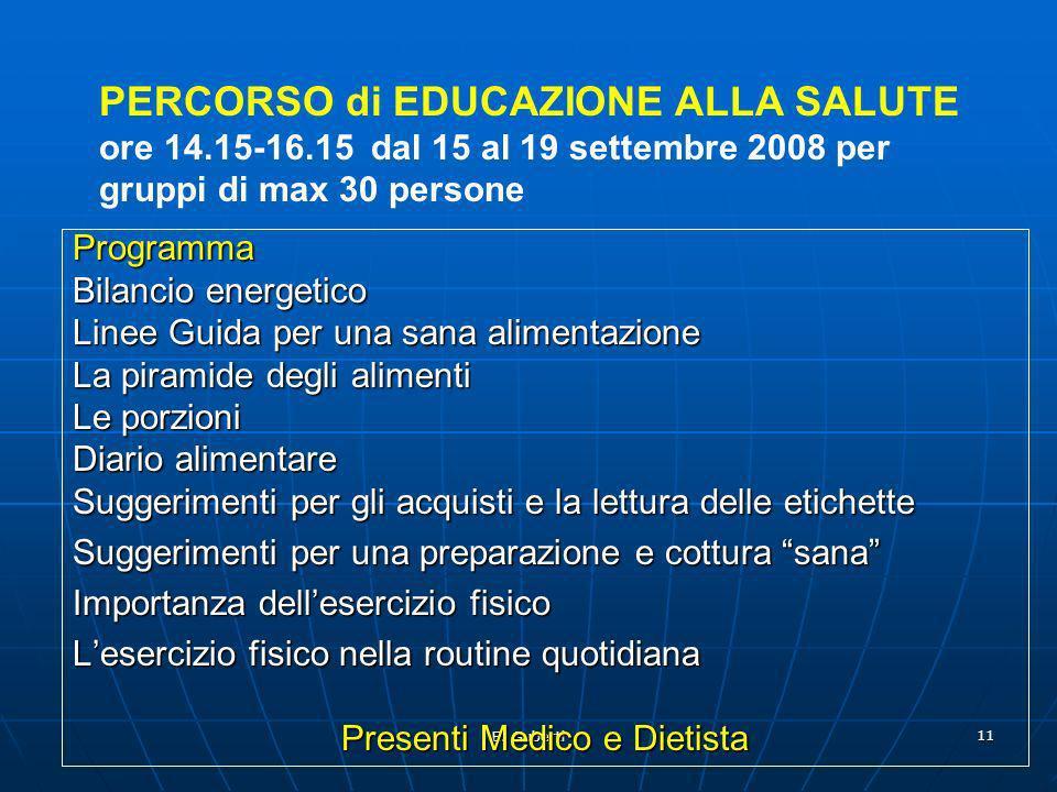 Presenti Medico e Dietista