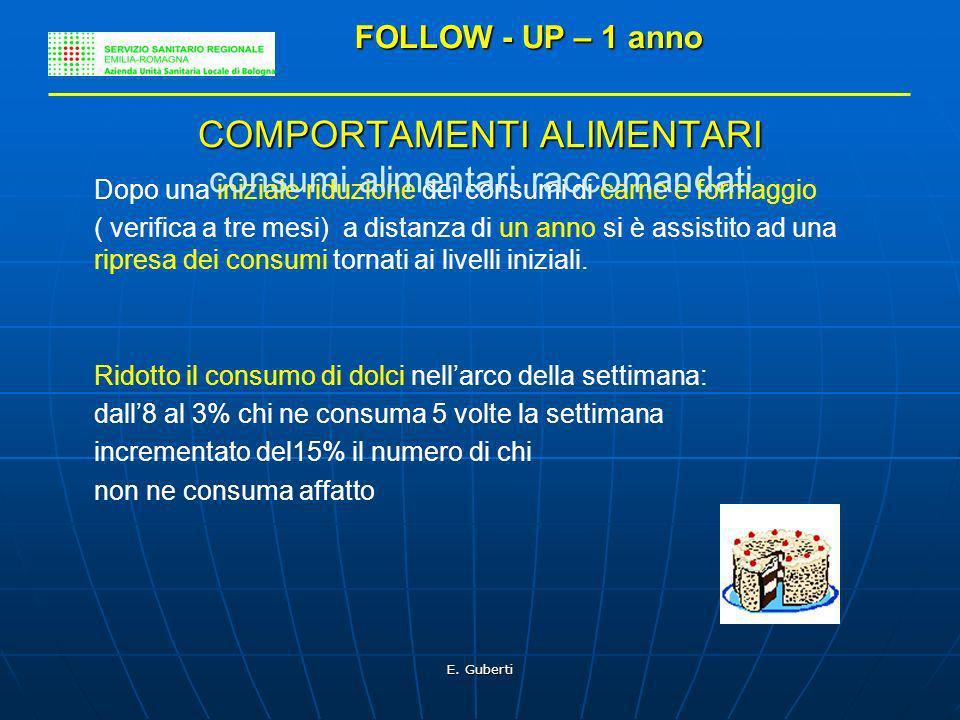 COMPORTAMENTI ALIMENTARI consumi alimentari raccomandati
