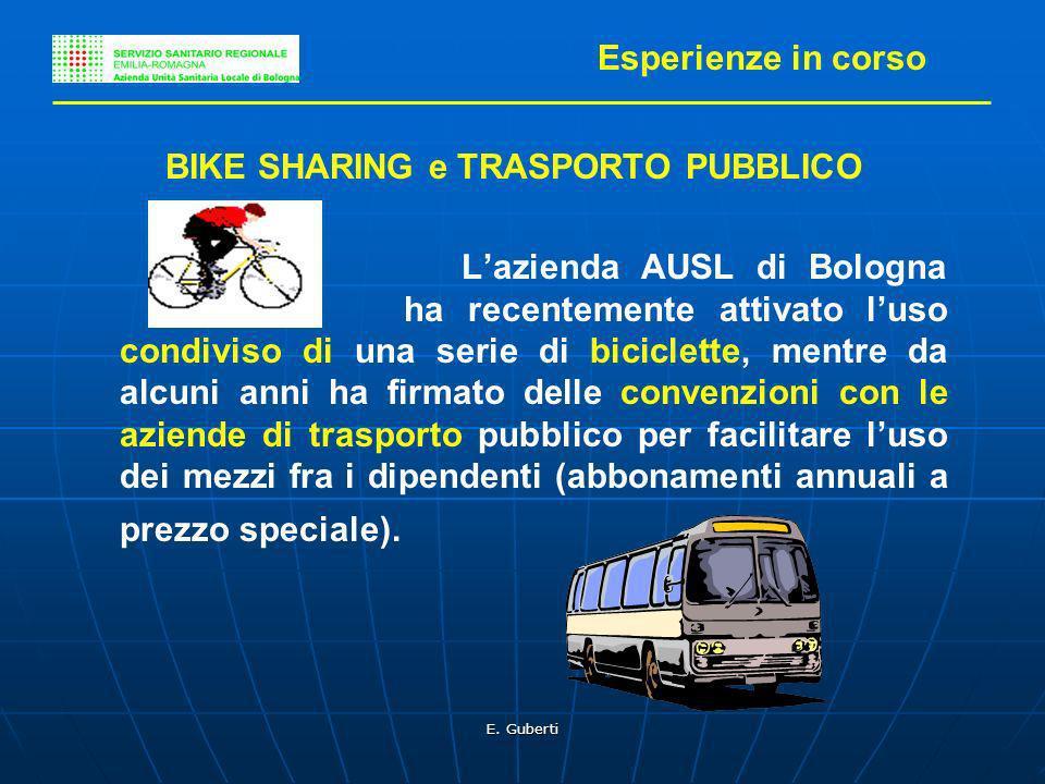BIKE SHARING e TRASPORTO PUBBLICO
