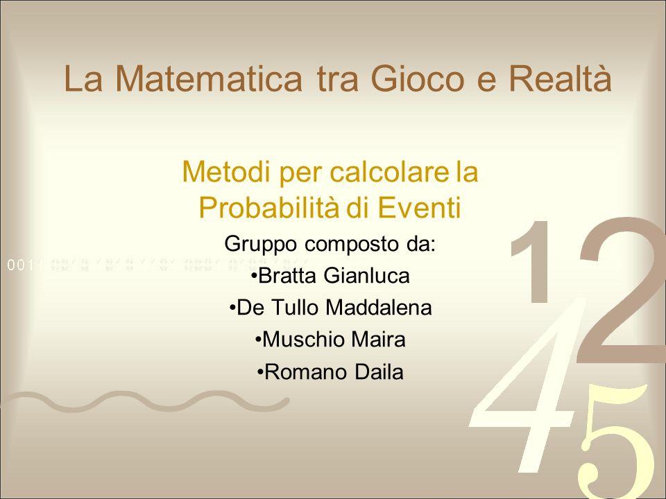 La Matematica tra Gioco e Realtà