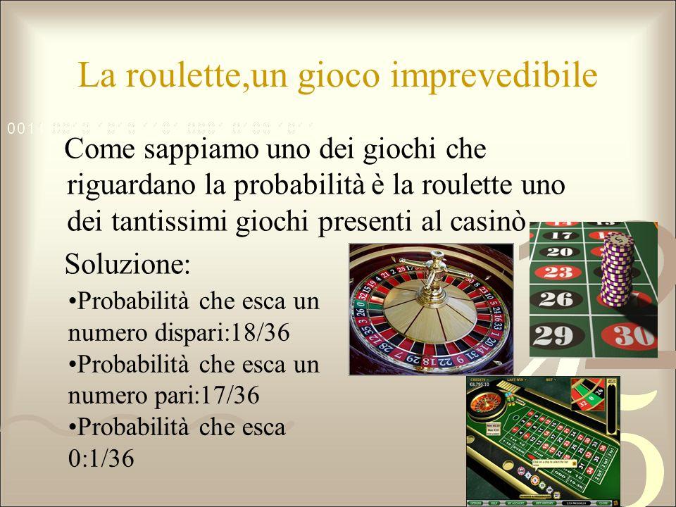 La roulette,un gioco imprevedibile