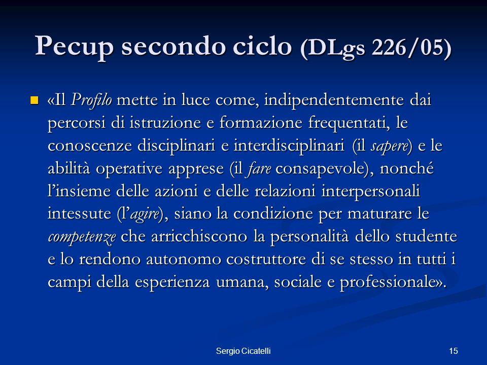 Pecup secondo ciclo (DLgs 226/05)