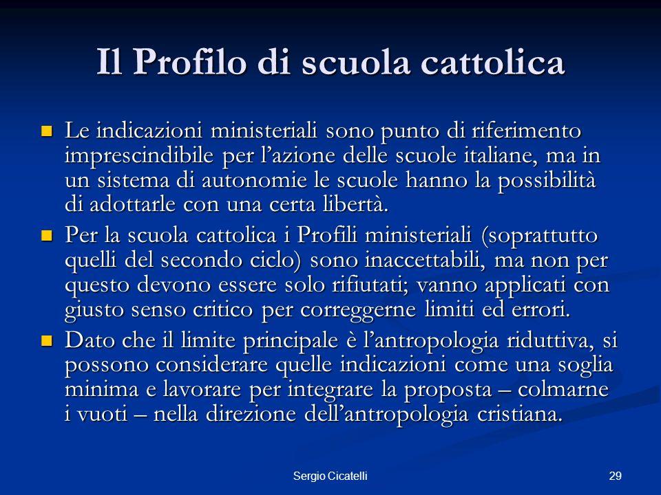 Il Profilo di scuola cattolica