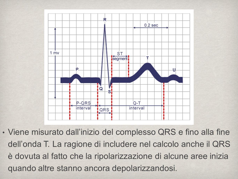 Viene misurato dall'inizio del complesso QRS e fino alla fine dell'onda T.
